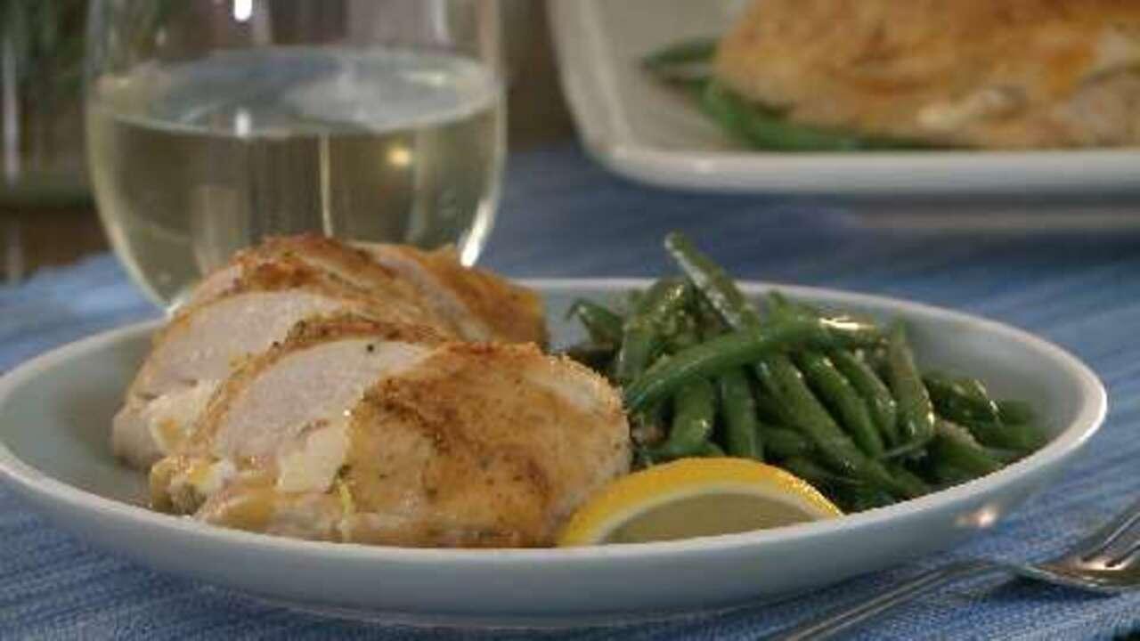 garlic lemon double stuffed chicken video