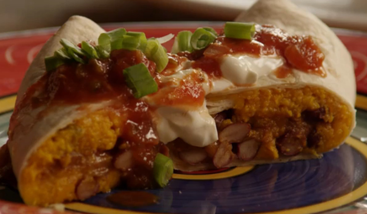 addictive sweet potato burritos video