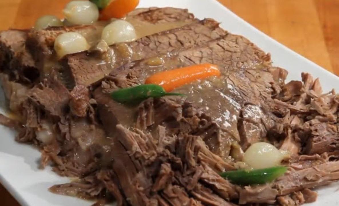 crockpot roast beef dinner