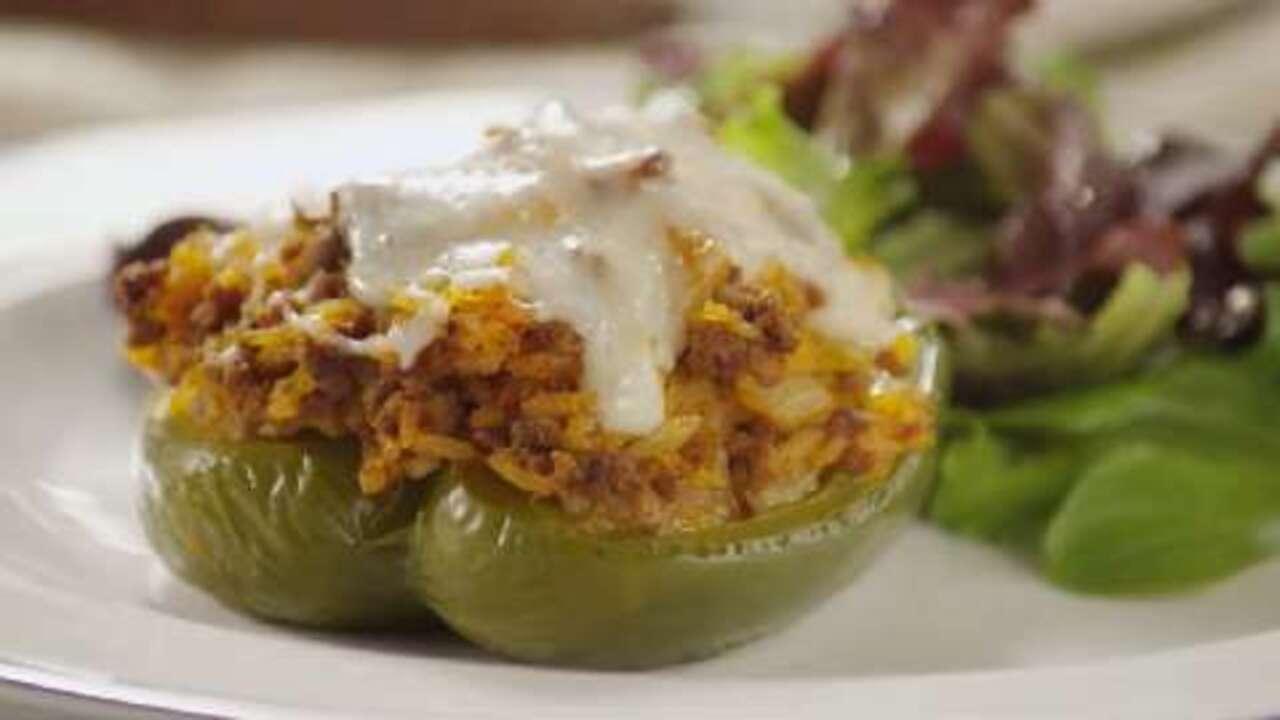 kelseys favorite stuffed green peppers video