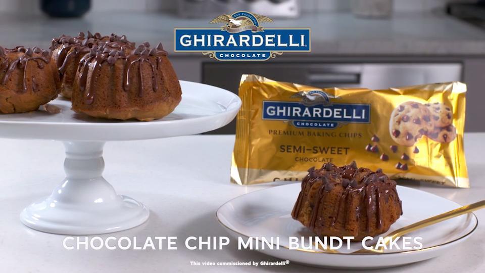 Chocolate Chip Mini Bundt Cakes Video
