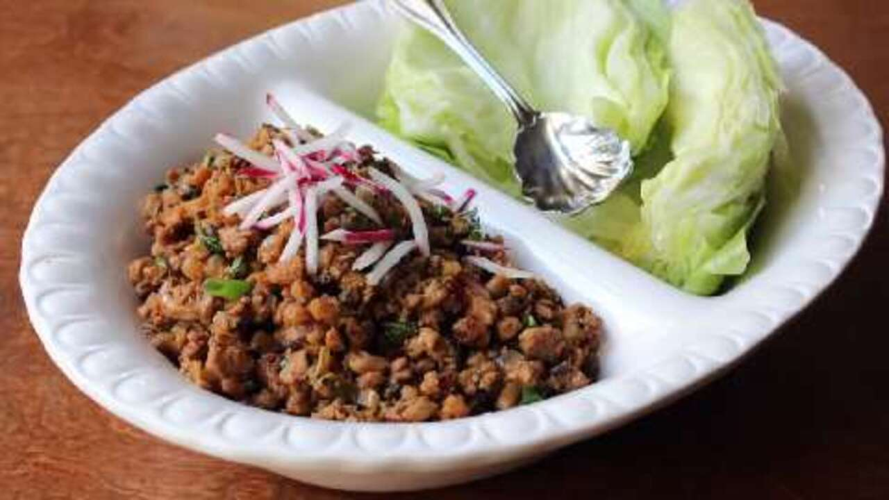 spicy chicken lettuce wraps video