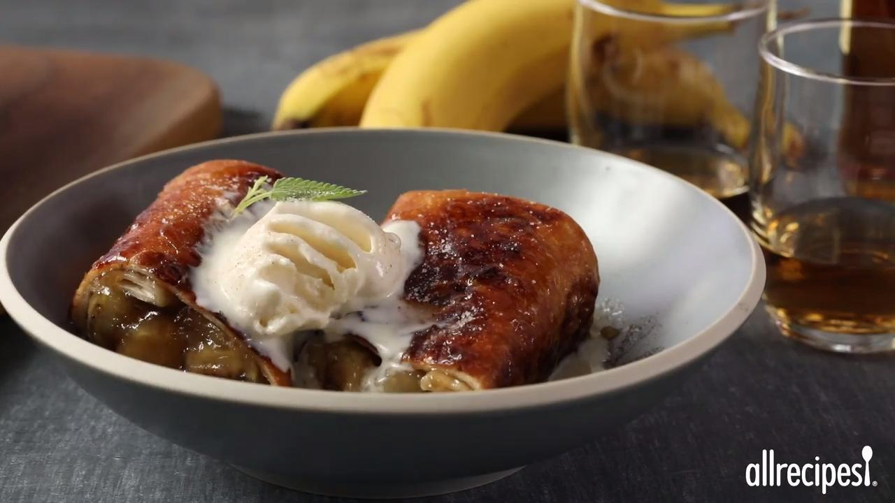 Almost Famous Chimichangas bananas foster chimichangas