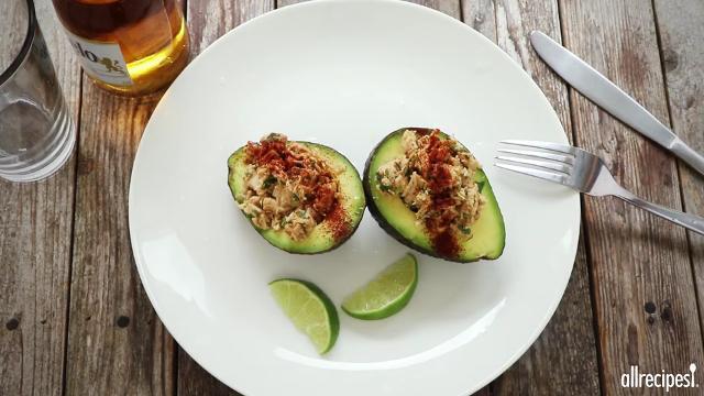 Mexi-Chicken Avocado Cups KyLeeAnn