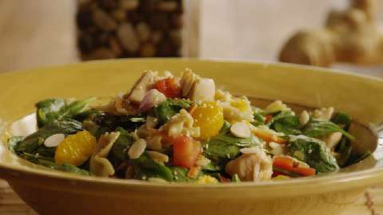 Mandarin Chicken Pasta Salad Video