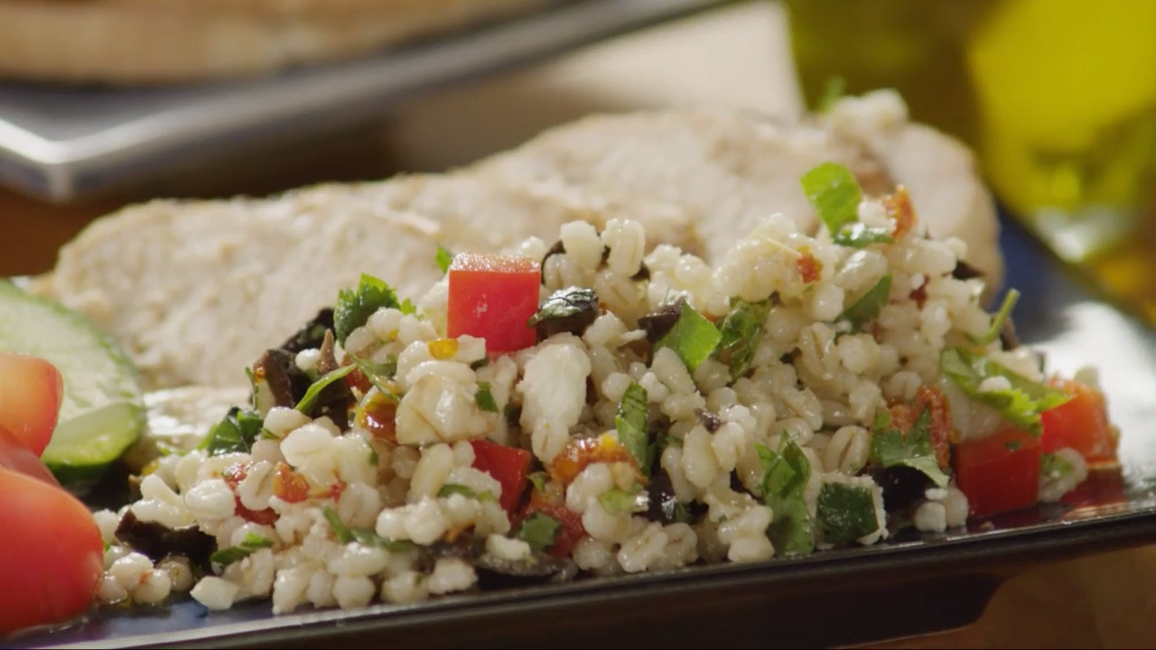 mediterranean barley salad video