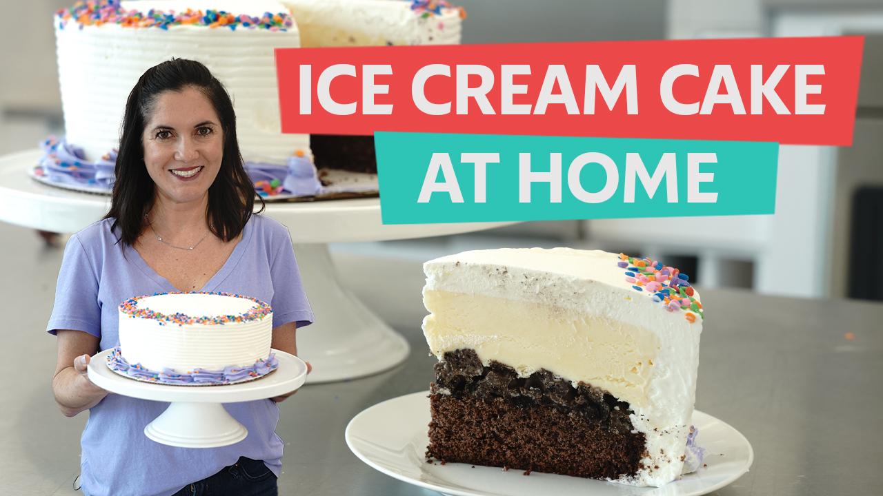 easy incredible ice cream cake video