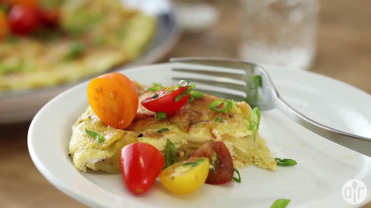 spanish potato omelet video