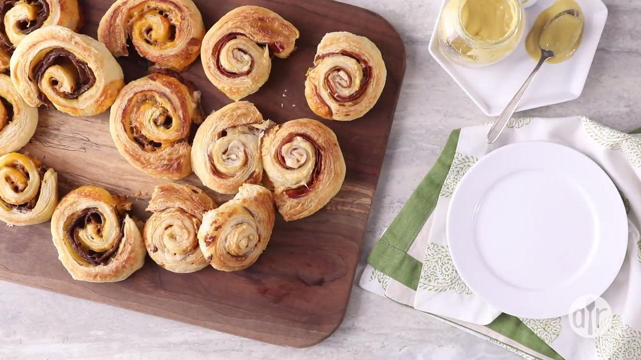 prosciutto and parmesan pinwheels video