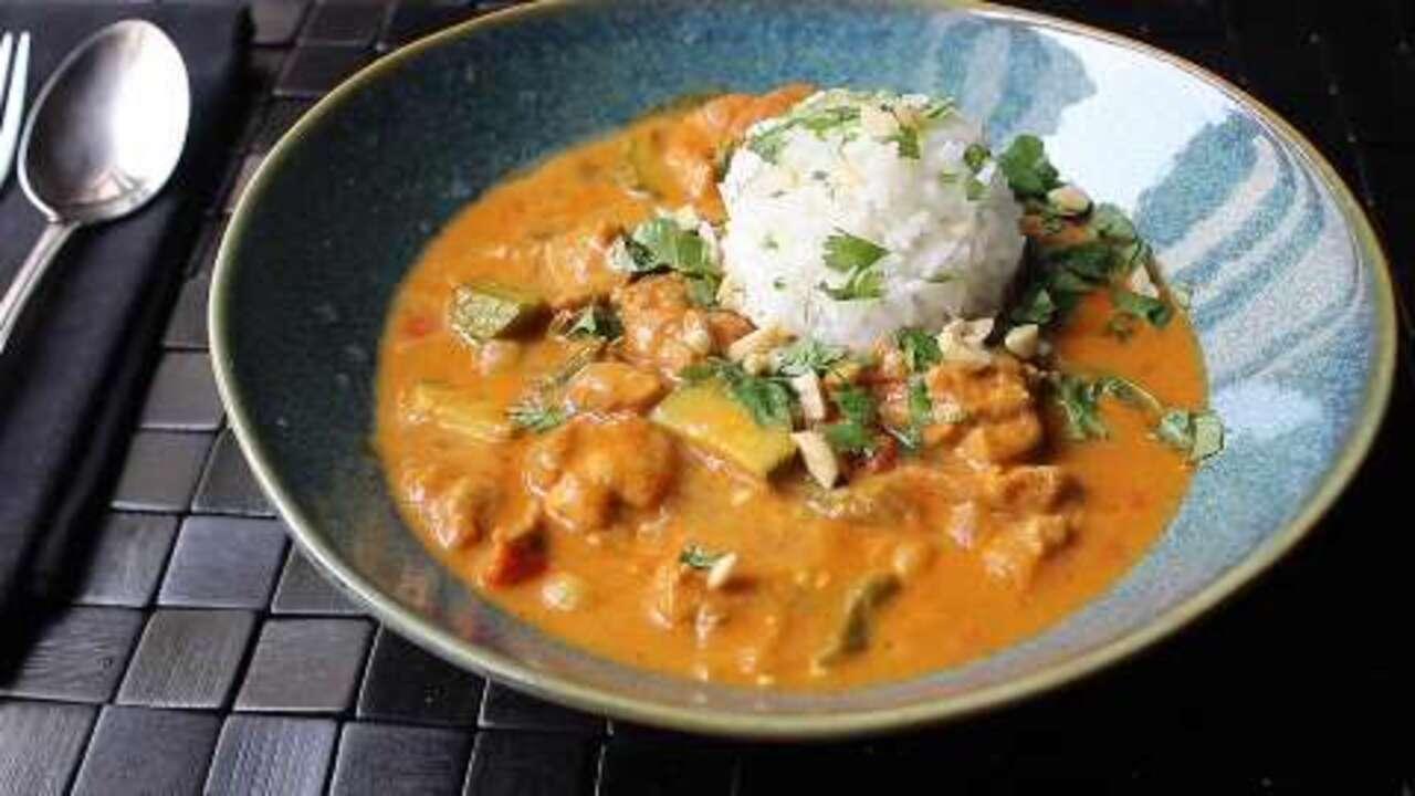 chef johns peanut curry chicken video