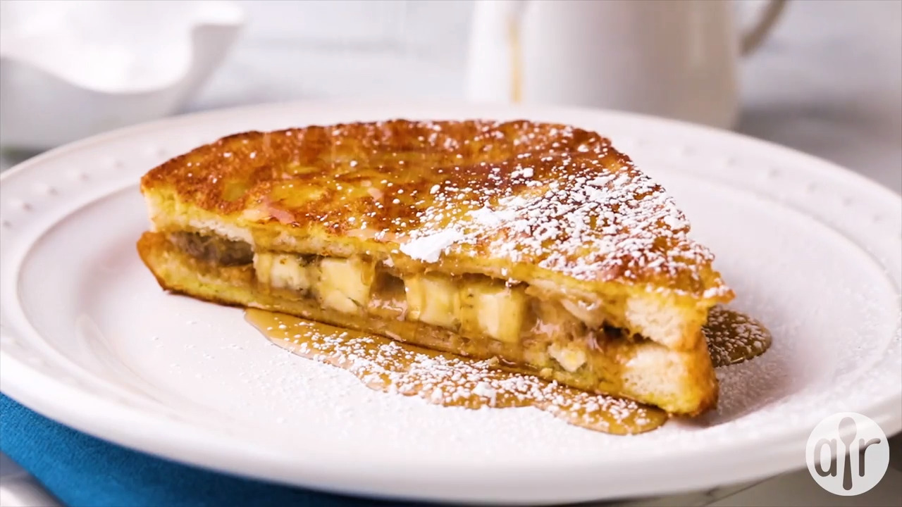 peanut butter and banana french toast video