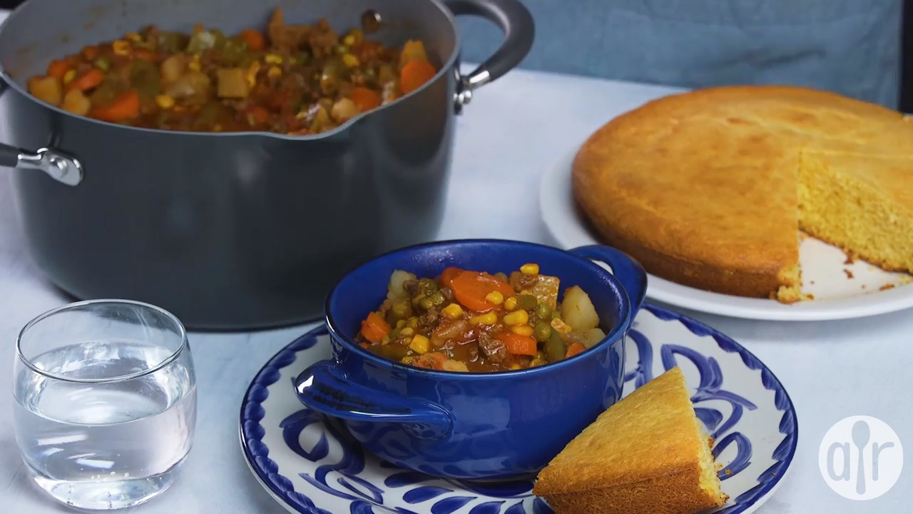 ground beef vegetable soup video