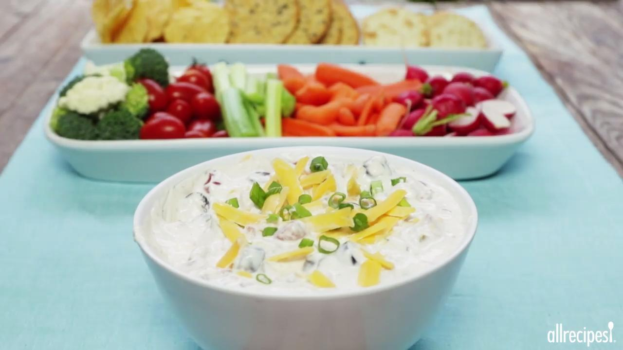 Cheesy Sour Cream and Salsa Dip Video