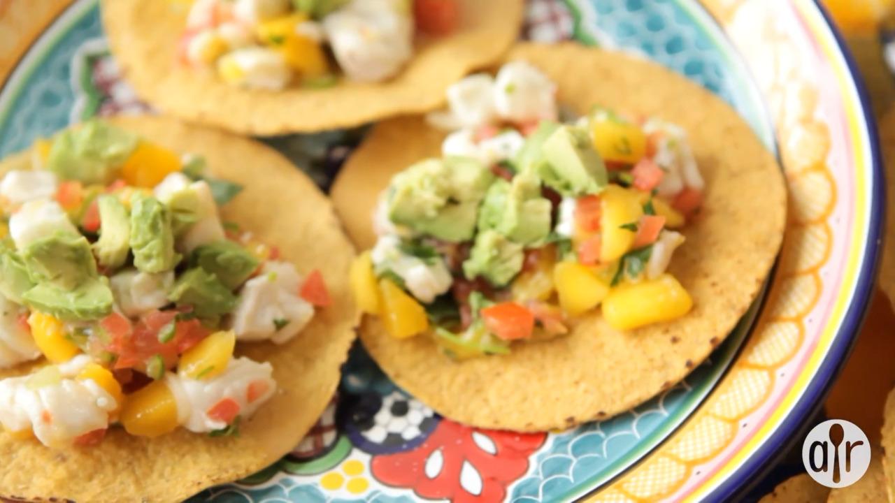 mexican mango and white fish ceviche video