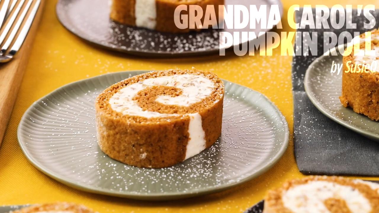 grandma carols pumpkin roll video