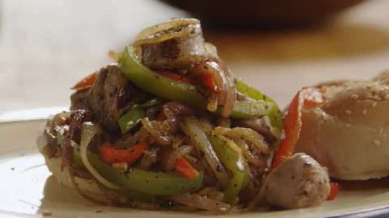 italian sausage peppers and onions video