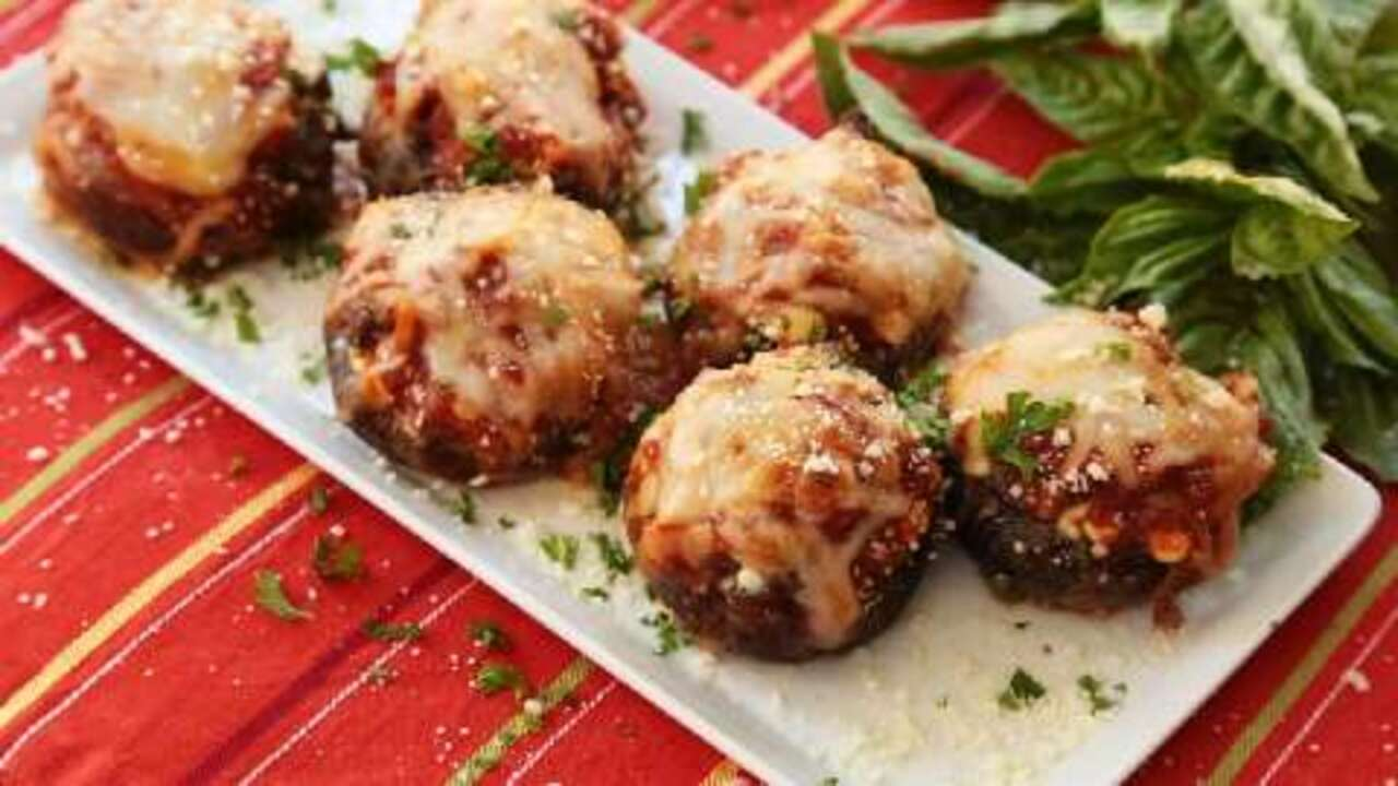 Lasagna-Stuffed Mushrooms Video - Allrecipes.com