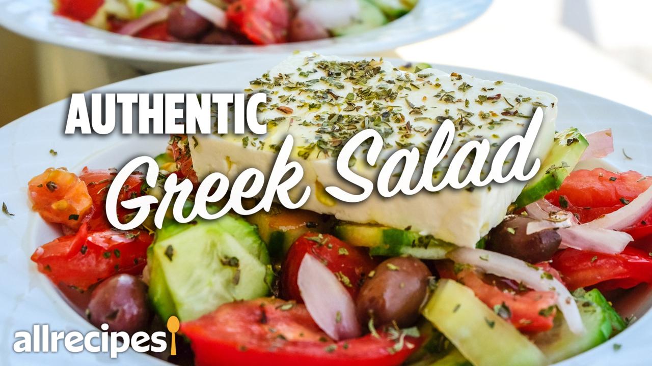 authentic greek salad video
