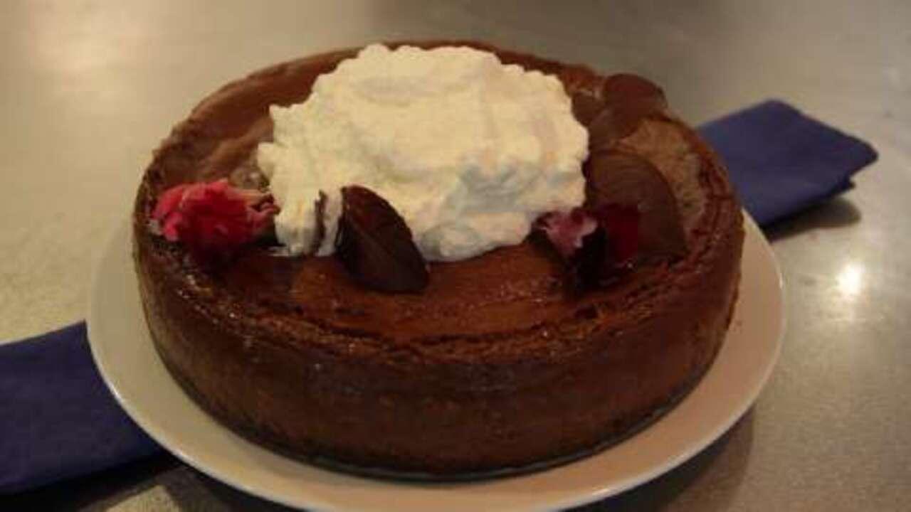 chocolate cappuccino cheesecake video