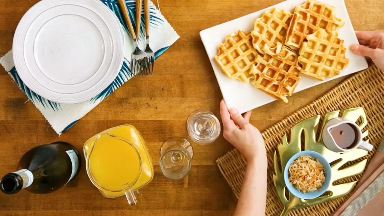 Hawaiian Waffles with Pineapple and Coconut_image