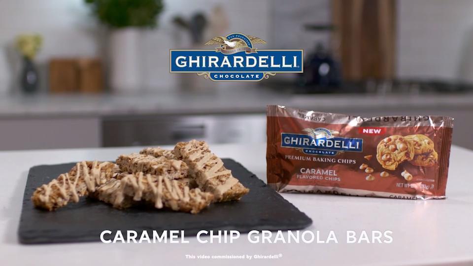caramel granola bars video