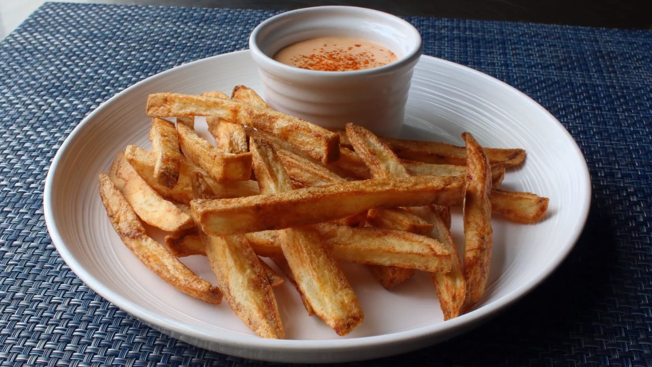 air fryer french fries video