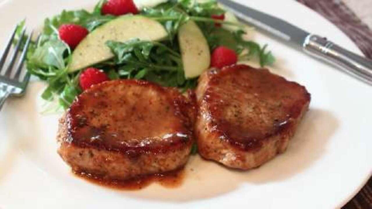 pork chops with apple cider glaze video
