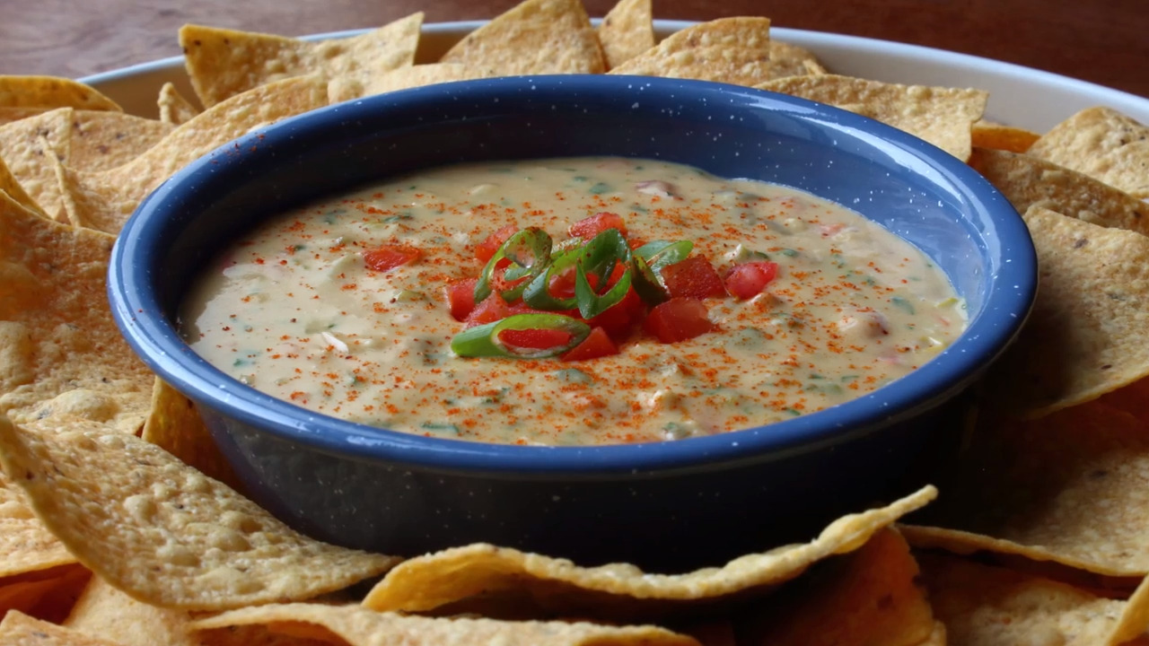 chef johns queso dip video