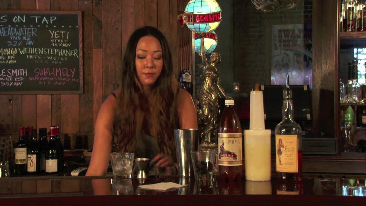 black ginger cocktail video