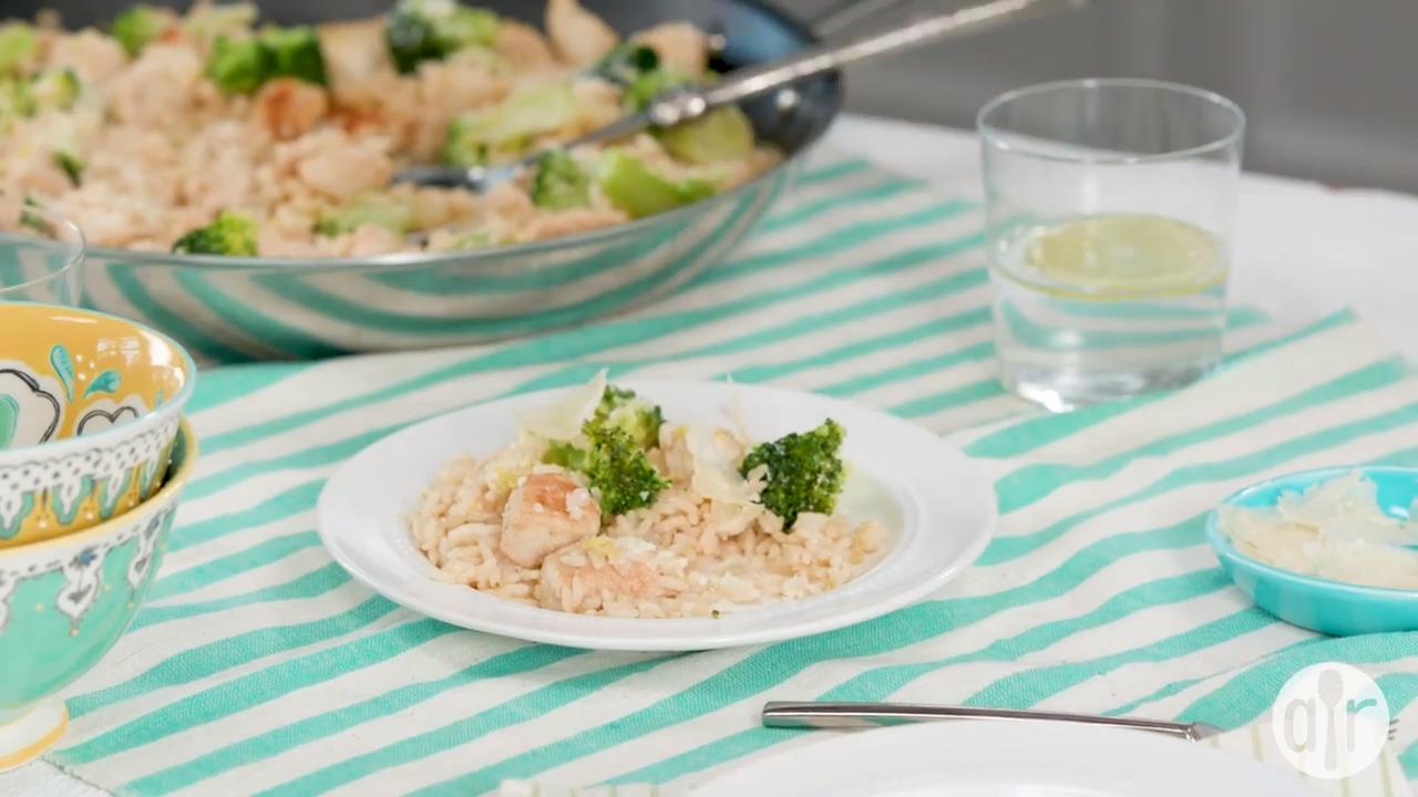 lemon parmesan chicken and rice bowl video