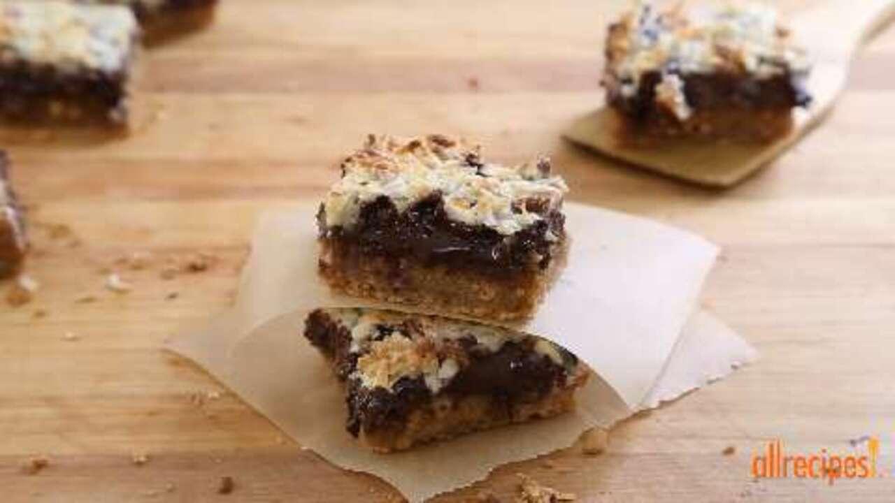 gluten free magic cookie bars video
