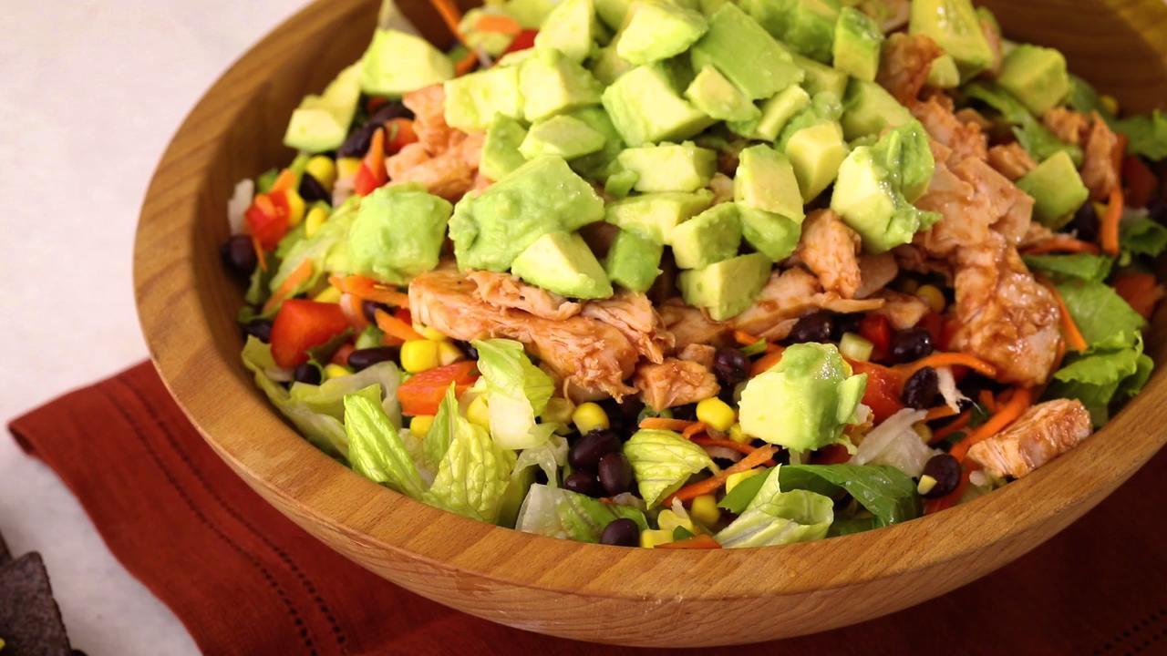 bbq chicken chopped salad video