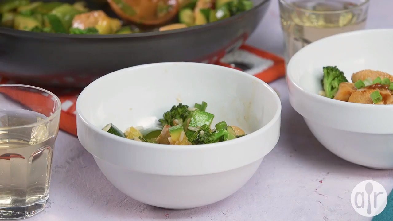 stir fry chicken and vegetables video