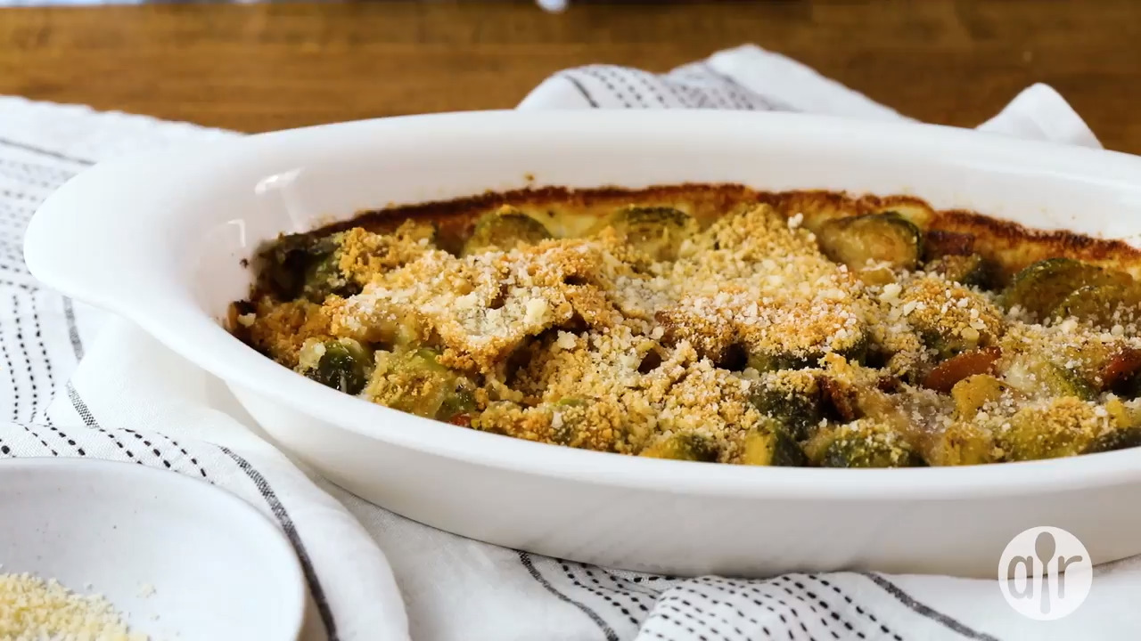 brussels sprouts gratin video