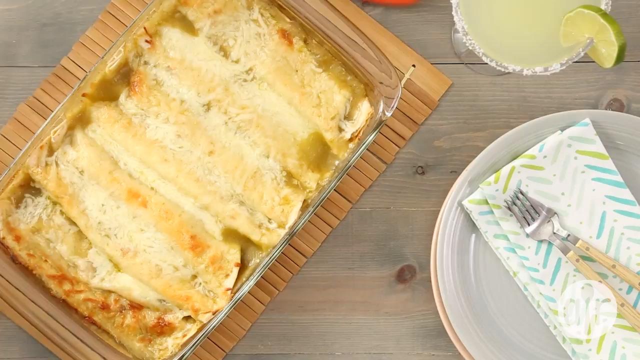 Jalapeno Cream Cheese Chicken Enchiladas Video
