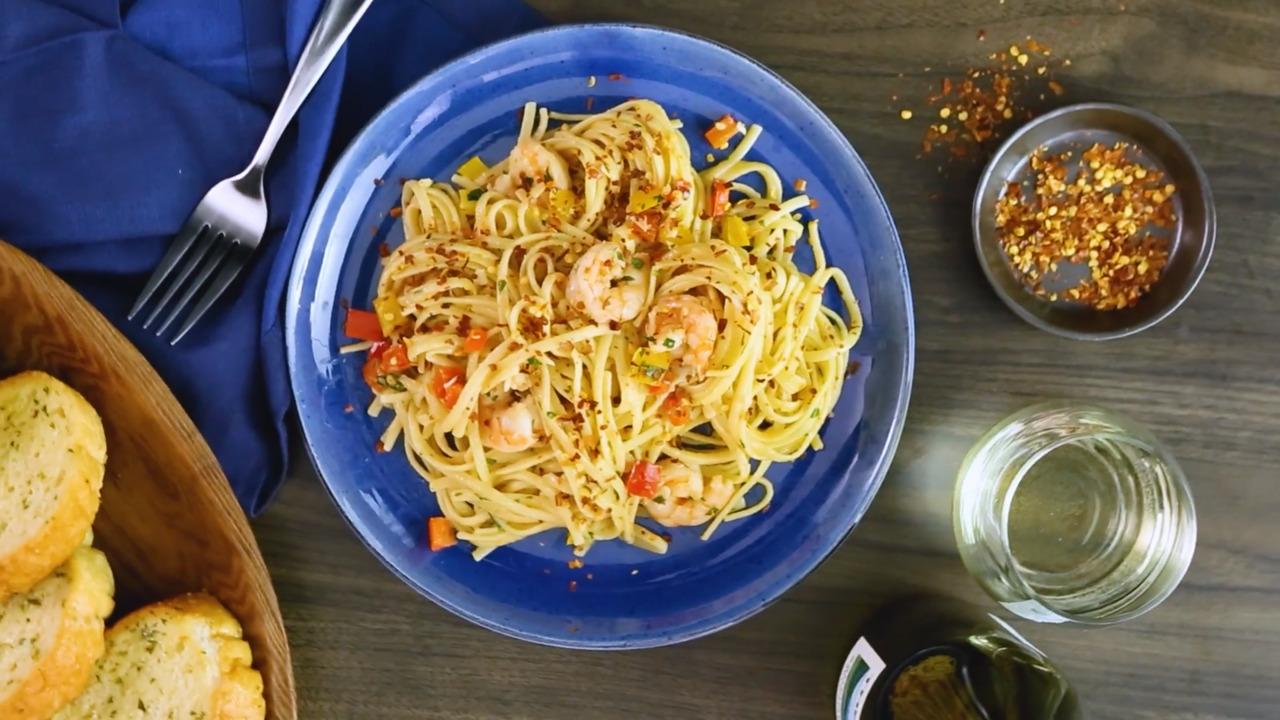 scrumptious shrimp scampi linguine video