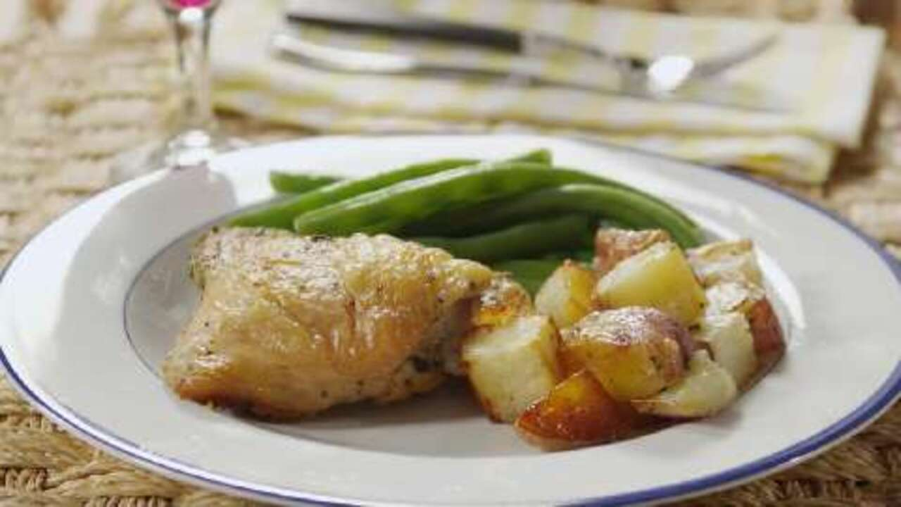 Crispy Rosemary Chicken and Fries SANDY WITEK