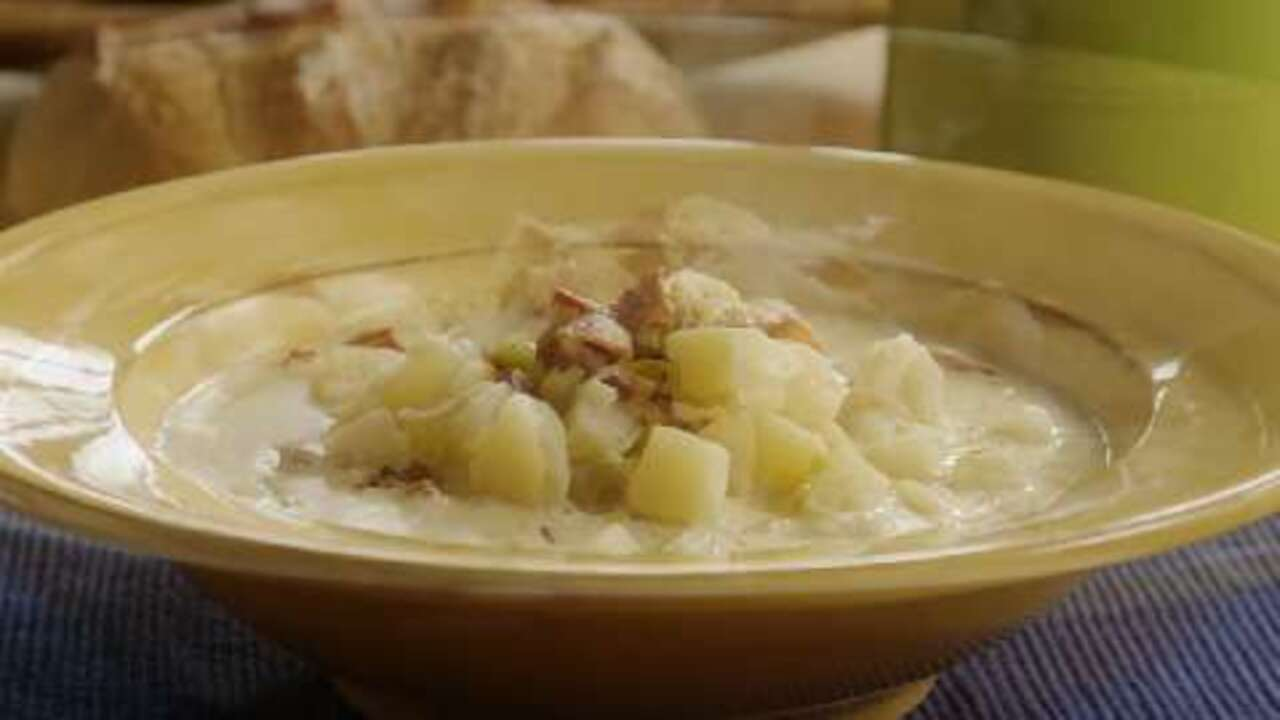 creamy potato leek soup ii video