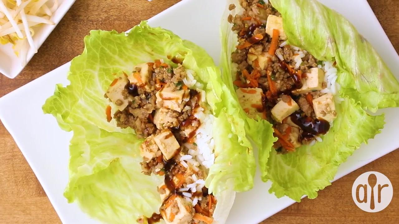 quick asian lettuce wraps video