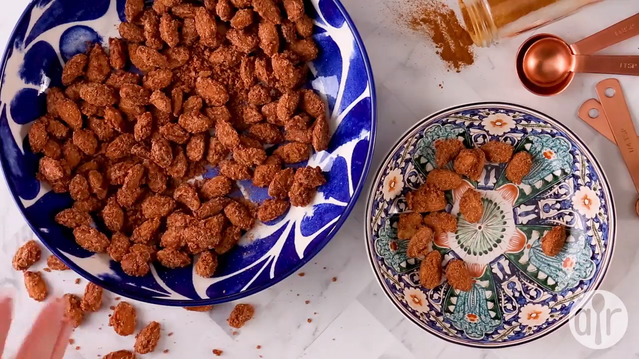 candied almonds video