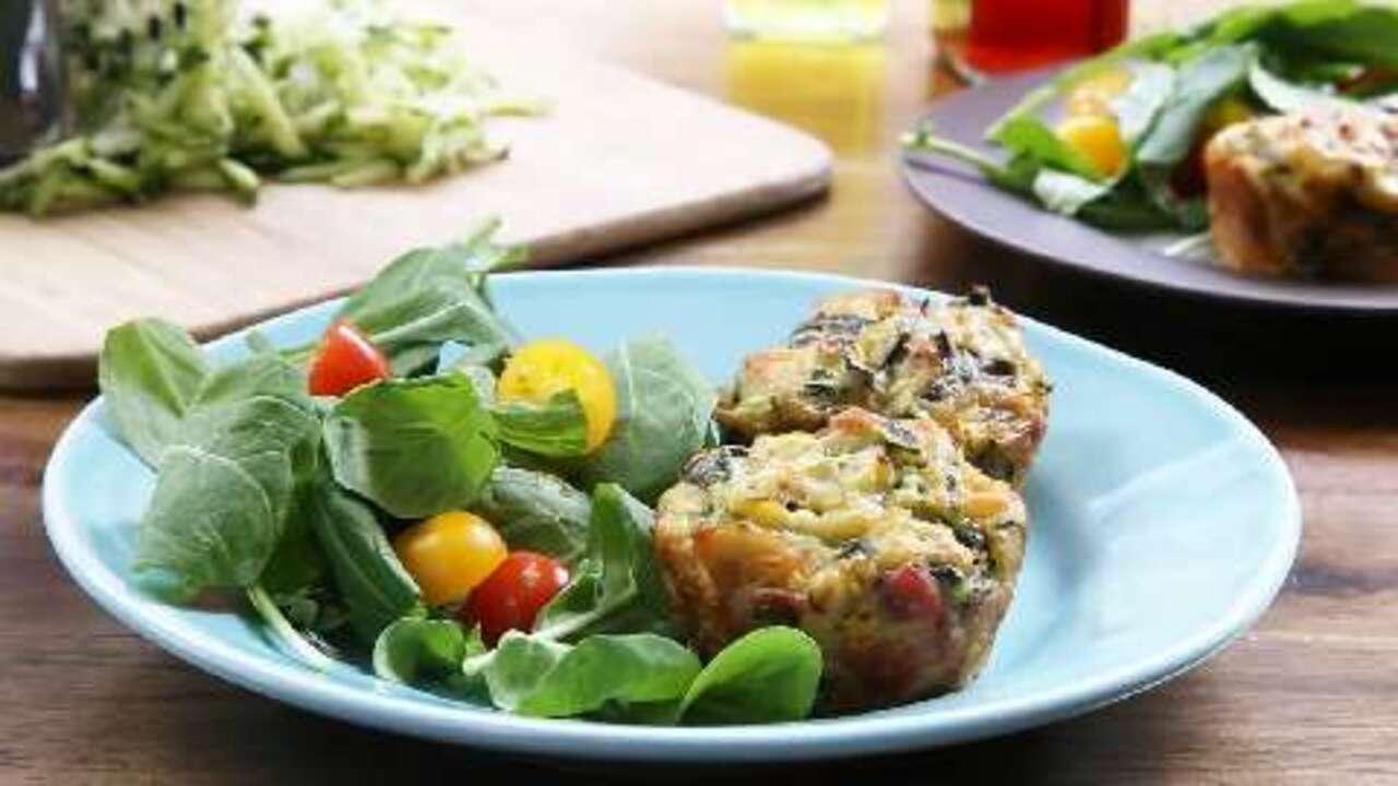 savory zucchini chard muffins video