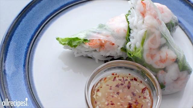 Vietnamese Spring Rolls With Dipping Sauce Video Allrecipes Com