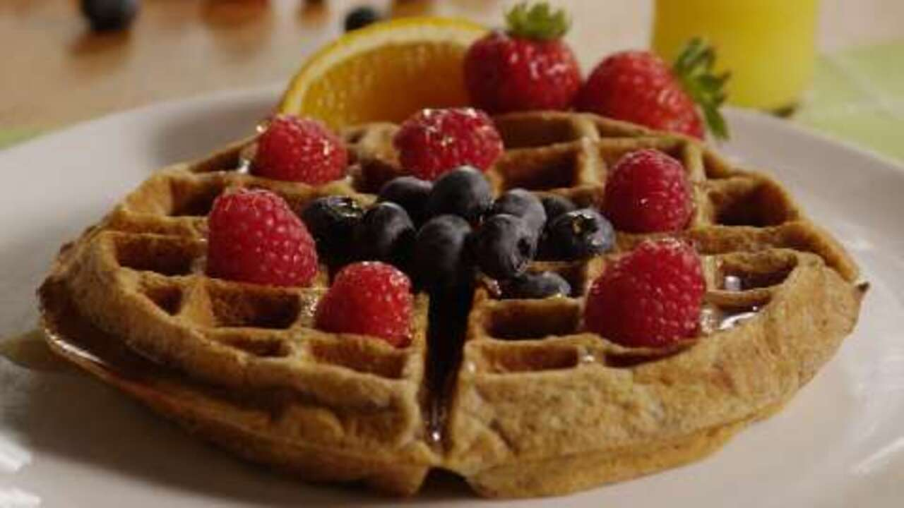 whole grain waffles video