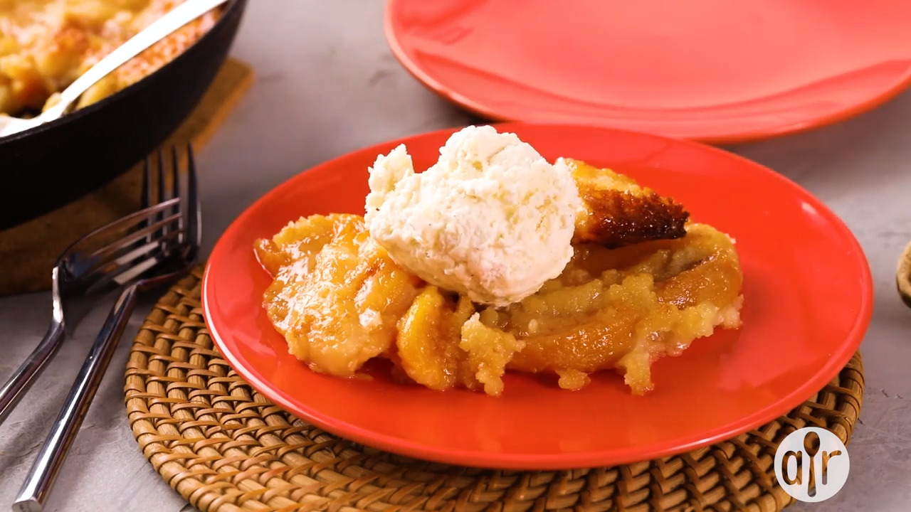 quick and easy peach cobbler video