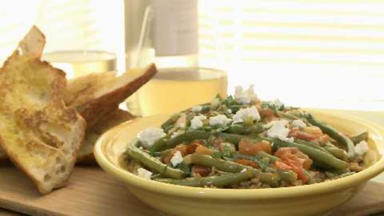 greek green beans video