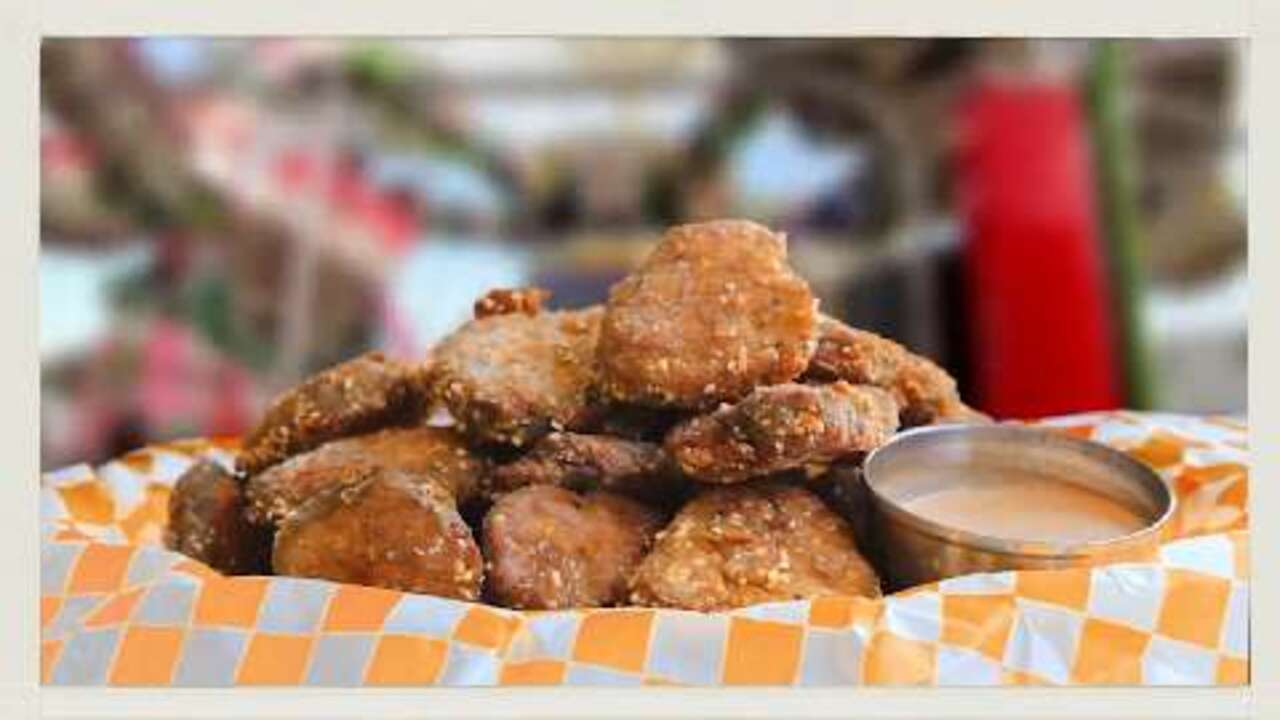 deep fried dill pickles video