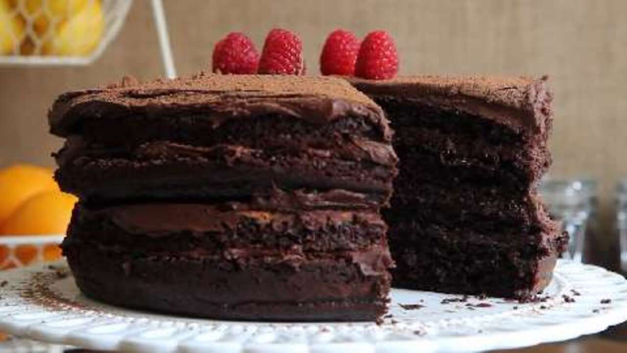 Extreme Chocolate Cake Video Allrecipes Com