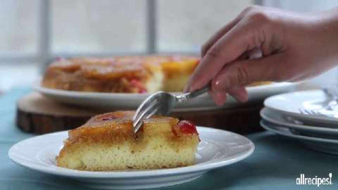 old fashioned pineapple upside down cake video