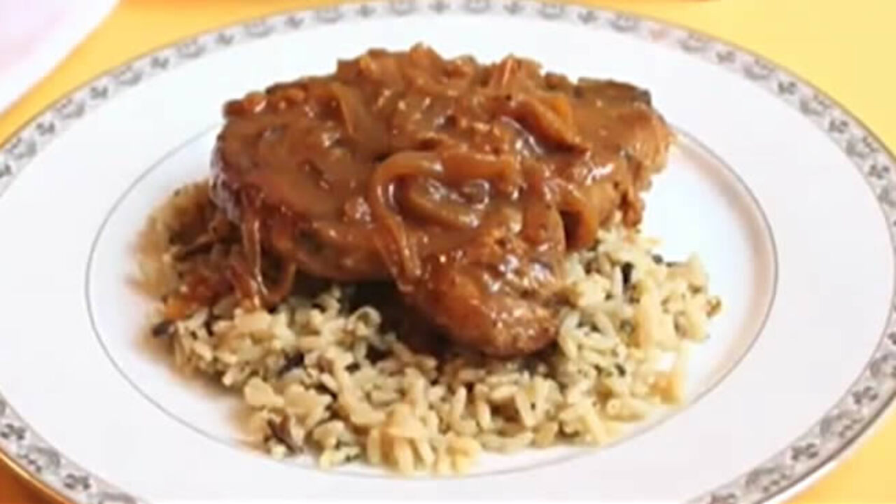 Chef John S Smothered Pork Chops Video Allrecipes Com