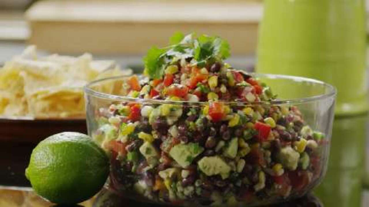heathers cilantro black bean and corn salsa video